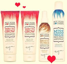 I used the Not Your Mothers hairspray and it was really nice. The smell wasnt bad, but it was different. After using it over and over I really grew on the scent and it smells really nice to me now :D but I am always attracted to Not Your Mothers products, and I didnt know they had a shampoo and conditioner. Ill try finding it :D
