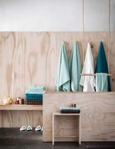 H&M fall 2014 collection plywood bathroom