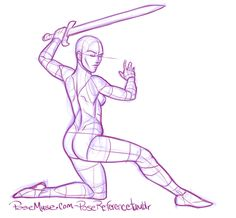 Pose Reference for Artists — Sword fighting! Check any of the dozen posts. Sword Drawing, Drawing Base, Figure Sketching, Figure Drawing Reference, Sword Reference, Drawing Body Poses, Fighting Poses, Anime Poses Reference, Poses References