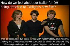 Harry Potter on twilight.... hahaha