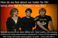 Harry Potter on twilight.... hahaha