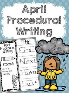 "April Procedural Writing foldables are a fun way to practice ""how to"" writing. April scenarios revolve around weather and nature and include fun prompts such as ""how to get dressed for the rain"" and ""how to blow bubbles"" among others.In this packet, there are 7 writing prompts with traceable temporal word starters and 1 blank prompt to create your own options."