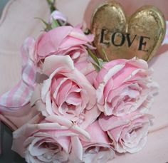 pink roses and love, what else do you need?
