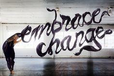 Embrace Change, Aizone FW12 by Sagmeister & Walsh, via Behance