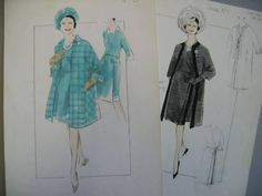 Norman Hartnell designs for H.M. Queen Elizabeth II, mainly 1960s