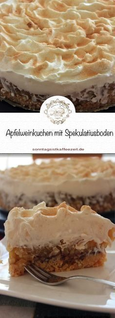 Diese Apfelweintorte benötigt keinen Backofen und ist schnell und einfach gemac… This apple wine cake does not require an oven and is quick and easy to make and is well received by every coffee party. Apple Desserts, Fall Desserts, Apple Recipes, Christmas Desserts, Easy Smoothie Recipes, Easy Smoothies, Pastry Recipes, Cake Recipes, Apple Wine