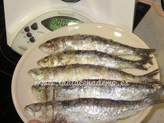 Receta de sardinas a la sal con thermomix fáciles de preparar, sin apenas ensuciar. Fish And Seafood, Healthy Recipes, Meat, Cooking, Ethnic Recipes, Thumbnail Image, Gourmet, Homemade Recipe, Cooking Recipes