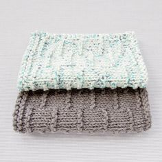 Dashed Stripe Knitted Facecloth