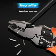 Multifunctional Useful Cable Wire Stripper Cutter – juleland Homemade Tools, Diy Tools, Gadgets And Gizmos, Cool Gadgets, Tools Hardware, Garage Tools, Cable Wire, Home Repair, Diy Videos