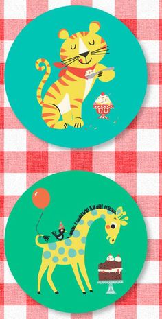 collection by Kay Vincent of 'Ketchup on Everything' created for Magpie. Called 'Party Animals' it is a range of partyware featuring Kay's cute animal print & pattern Cute Animal Illustration, Illustration Art, Animal Illustrations, Pattern Art, Print Patterns, Pattern Paper, Jungle Animals, Cute Animals, Animal Party