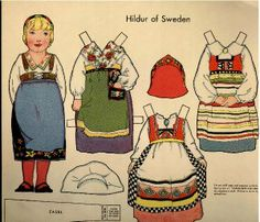 Dolls of Many Lands paper doll. Hilda of Sweden