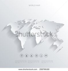 Abstract telecommunication world map with circles lines and world map in a flat styleearthglobeute planningp of gumiabroncs Images