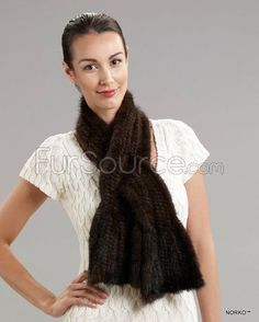 Shop FurSource for the best selection of Pull-Thru Fur Scarves. Buy the Bell Bottom Scarf - Mahogany Mink Fur by FRR with fast same day shipping. Mink Fur, Collar And Cuff, Neck Warmer, Bell Bottoms, Collars, Cashmere, Knitting, Coat, Fur Scarves