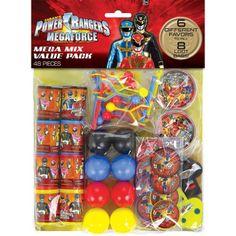 Power Rangers Megaforce Value Pack Favor Set (For 8 People) favors or pinata fillers