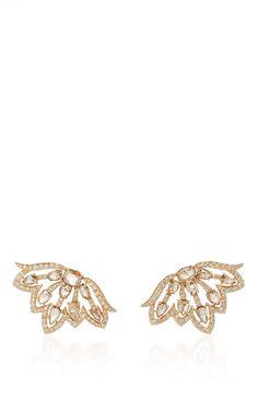 Diamond Butterfly Earrings by SUTRA for Preorder on Moda Operandi