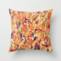 Blooms Fusion II Throw Pillow by SKCreations, LLC - $20.00