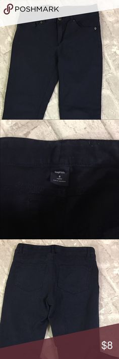 Gap - big girls pants Size medium (8) navy blue stretchy pants. Excellent condition. GAP Bottoms
