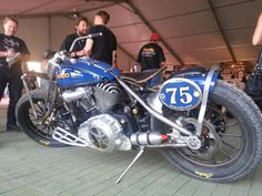 RSD unveils the Indian Chief Racer it built for Geico at Michael Lichter's Industry Party. - bh