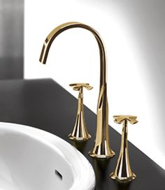 Beautiful Collection Of Gold Bathroom Taps Including Contemporary Basin Bath And Shower Accessories