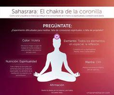 Chakra #7 – Sahasrara Cuando tu Chakra de la coronilla está abierto, experimentas una profunda conexión con el Espíritu en tu interior y con todos los seres vivos. Un consejo para abrir este chakra es la meditación o salir a correr, y también hacer ejercicios cardiovasculares.