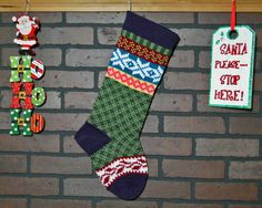 Personalized Christmas Stocking Hand Knit in by CustomBearHugs