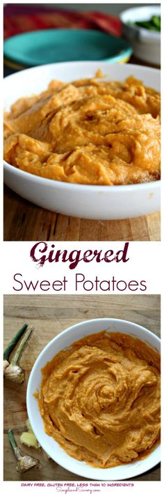 Gingered Sweet Potatoes - Simple And Savory Thanksgiving Side Dishes, Thanksgiving Recipes, Fall Recipes, Beef Recipes, Holiday Recipes, Potato Recipes, Healthy Recipes, Vegetable Recipes, Delicious Recipes