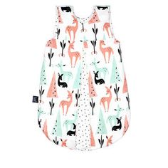 "SLEEPING BAG ""M"" - WHITE BAMBI & BAMBI FOREST"