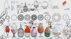 2009 Jaime Hayon - dessins préparatoires pour Baccarat