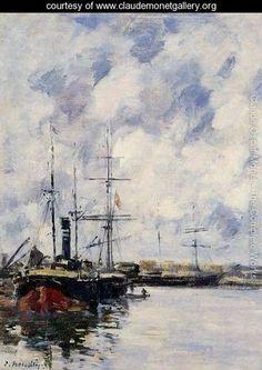 A Corner of the Deauville Basin 1894-1897 - Claude Oscar Monet - www.claudemonetgallery.org