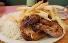 Pollo a la brasa peruano en El Pollo Imperial   #comidaperuana