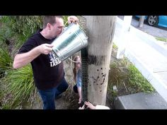 Water tube geocache. - we found one like this. The extra hands would have helped a lot.:)