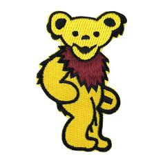 Grateful Dead Bear Band Patch Embroidered Music Iron on Patch Punk Patches