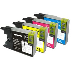 Compatible 4 Colour Brother LC1240 Ink Cartridge Multipack €15.45