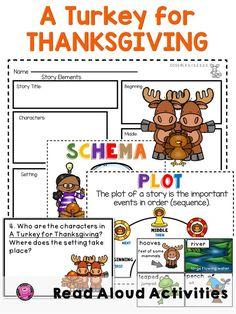 A Turkey for Thanksgiving Lesson Plans and Activities