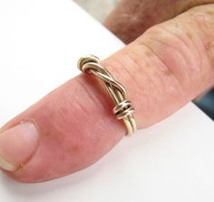 Mens ring idea. looks like barbed wire.
