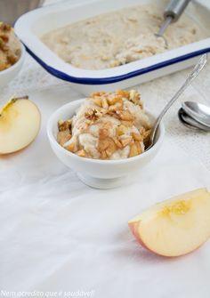 Vegan apple ice cream (sugar and gluten free)