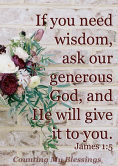 5 Verses to Pray When You Need Wisdom - Counting My Blessings Scripture Verses, Bible Verses Quotes, Bible Scriptures, Faith Quotes, Healing Scriptures, Heart Quotes, Scripture Images, Pray Quotes, Bible Prayers