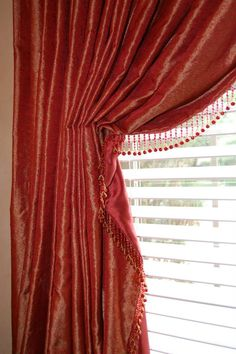 TL Design & Associates, Inc Bed Linens, Linen Bedding, Drapery Panels, Window Dressings, Tie Backs, Interior Design Inspiration, Innovation Design, Window Treatments, Burgundy
