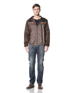 Gucci Men's Windbreaker Jacket (Cocoa)