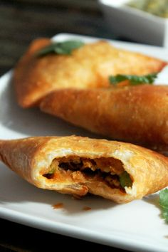 Not Quite a Vegan...?: Pea and Potato Indian Samosas scotch Bonnet may be too hot, could use jalapeño  and bake, don't fry.