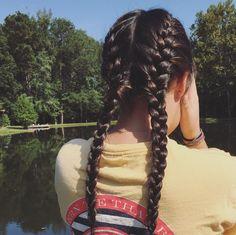 p i n t e r e s t // @calliegracec // French braided pigtails! #braids #frenchbraids #pigtails #braidedpigtails #hair #hairstyles #tangles