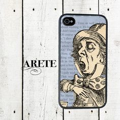 Mad Hatter iPhone Case  iPhone 4 4s  iphone 5  Gifts by Arete, $16.00