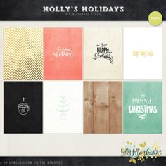 Free Printable Project Life Cards for the Holidays. December Daily.