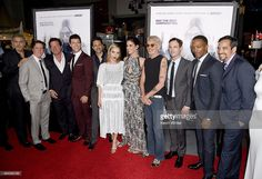 Cast and crew including Scoot McNairy (3rd R) attend the premiere of Warner Bros. Pictures' OUR BRAND IS CRISIS at TCL Chinese Theatre on October 26, 2015 in Hollywood, California.