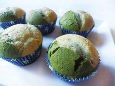 Muffin bicolor con té Matcha