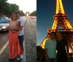 Sport Power Couples in Paris:  Maria Kirilenklo & Alex Ovechkin and Caroline Wozniacki and Rory McIlroy.