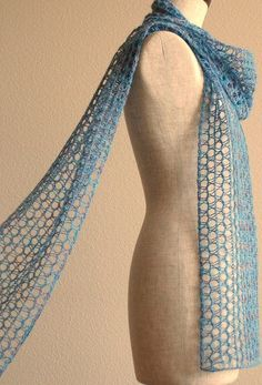 Free Knitting Pattern for Different Breeze Easy Scarf - Sachiko Uemura's mesh scarf is knit in larger needles to get the ethereal effect. Most Ravelrers rated this very easy or easy.