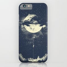 MOON+CLIMBING+iPhone+&+iPod+Case+by+Los+Tomatos+-+$35.00