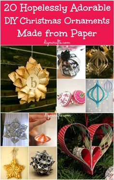 Wow 20 Hopelessly Adorable DIY Christmas Ornaments Made from Paper, probably the most creative DIY Christmas Ornaments