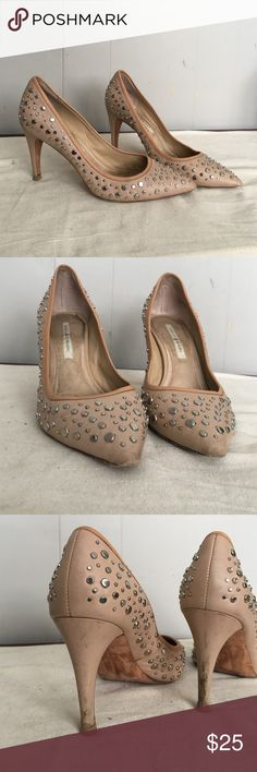 Diane von furstenberg stud heels 9 Pre owned and well loved some signs of wear on heels and toes see pic Diane von Furstenberg Shoes Heels